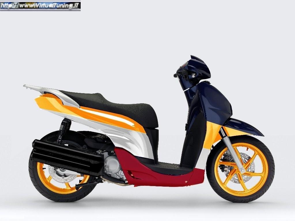 Honda Sh300 By Michelino Virtualtuningit