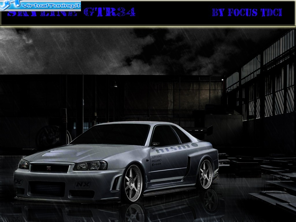 VirtualTuning NISSAN Skyline GTR34 by