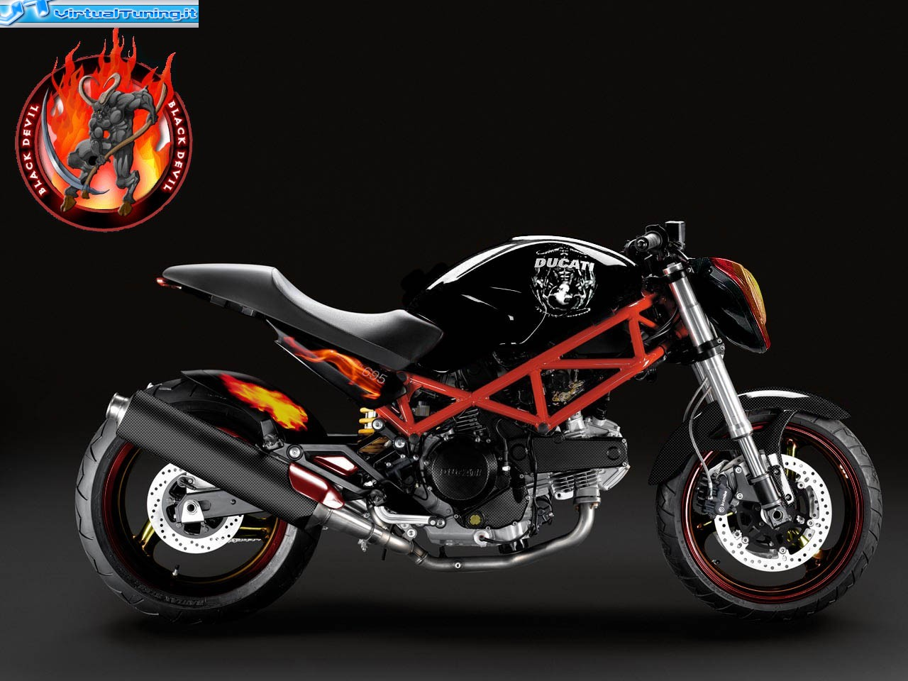 Ducati Monster 695 By Blackdevil Virtualtuning It