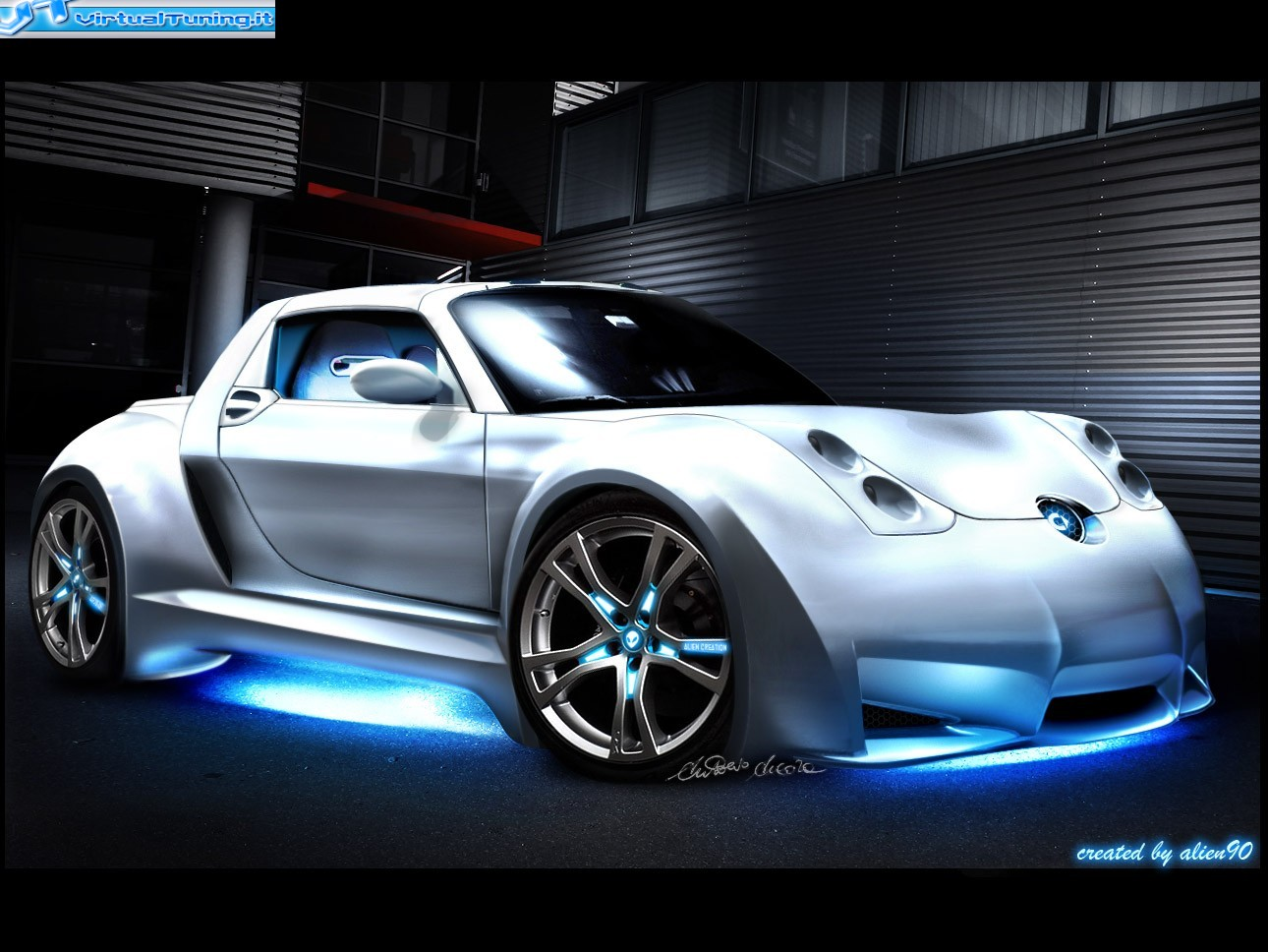 smart roadster coup by alien90 virtualtuning it. Black Bedroom Furniture Sets. Home Design Ideas