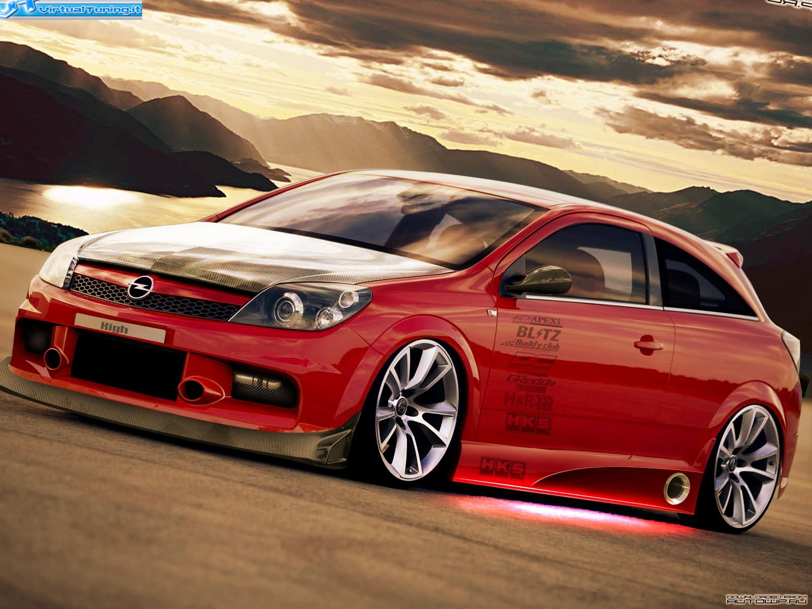 dettaglio virtualtuning opel astra gtc by malby. Black Bedroom Furniture Sets. Home Design Ideas
