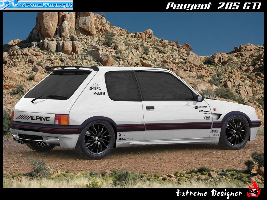 VirtualTuning PEUGEOT 205 GTi by Extreme Designer