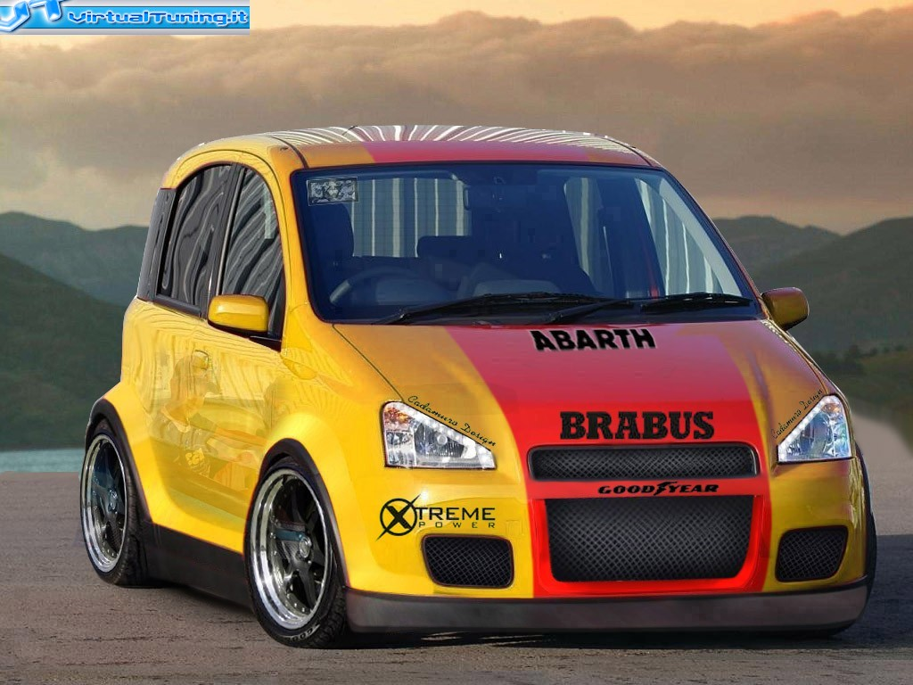 cacha style virtualtuning fiat panda 100hp. Black Bedroom Furniture Sets. Home Design Ideas