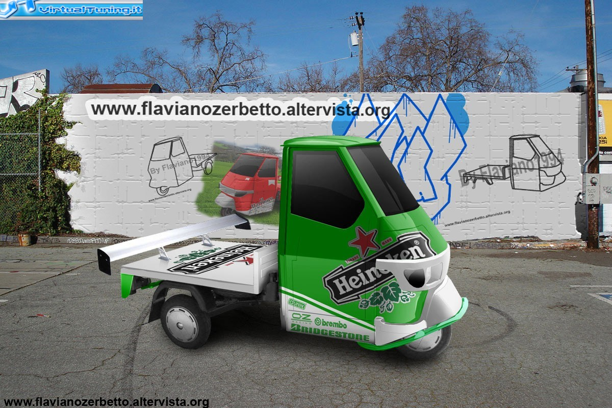 piaggio ape cross by flaviano1994 virtualtuning it. Black Bedroom Furniture Sets. Home Design Ideas