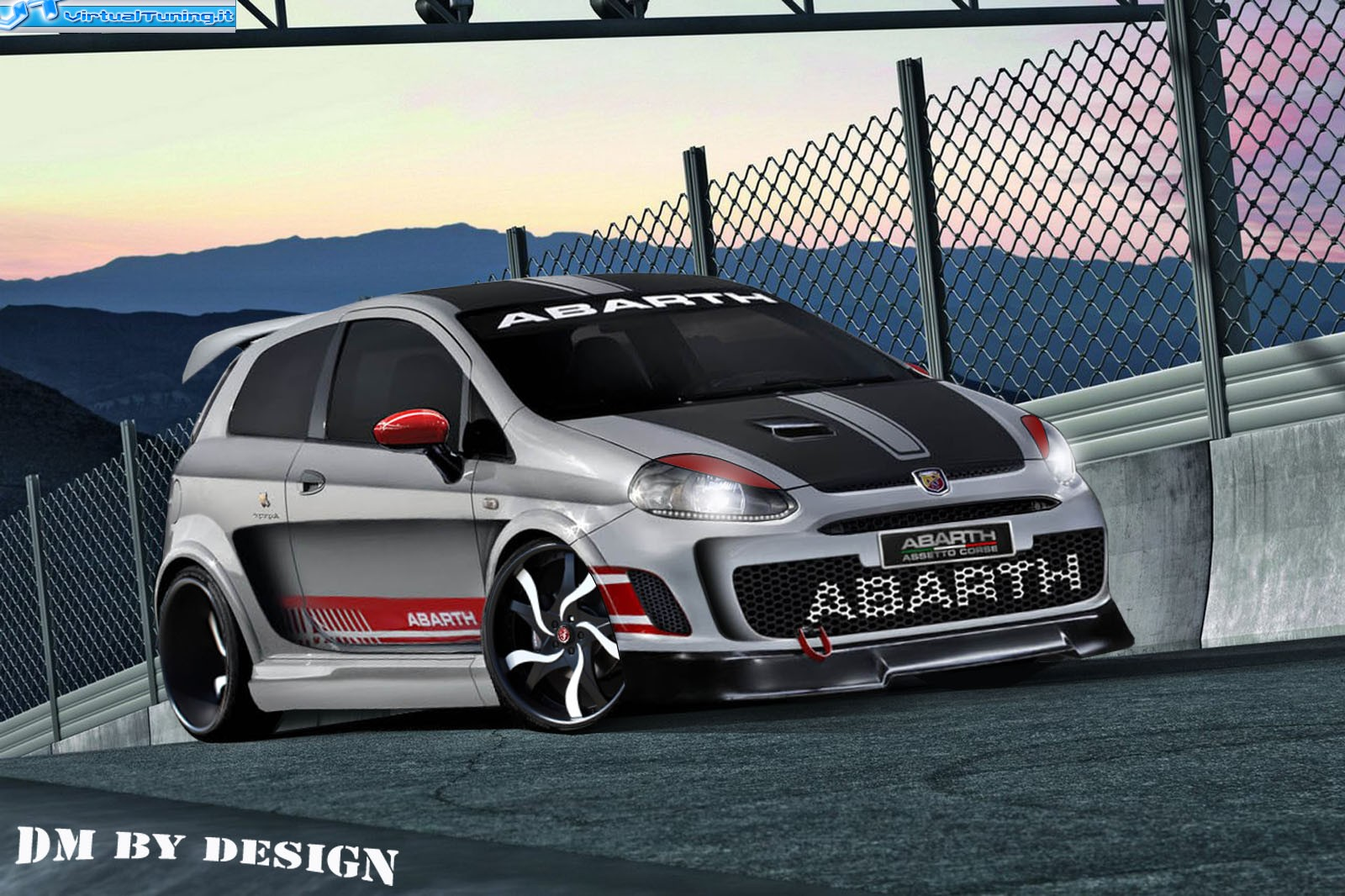 fiat grande punto abarth by dm by design virtualtuning it. Black Bedroom Furniture Sets. Home Design Ideas