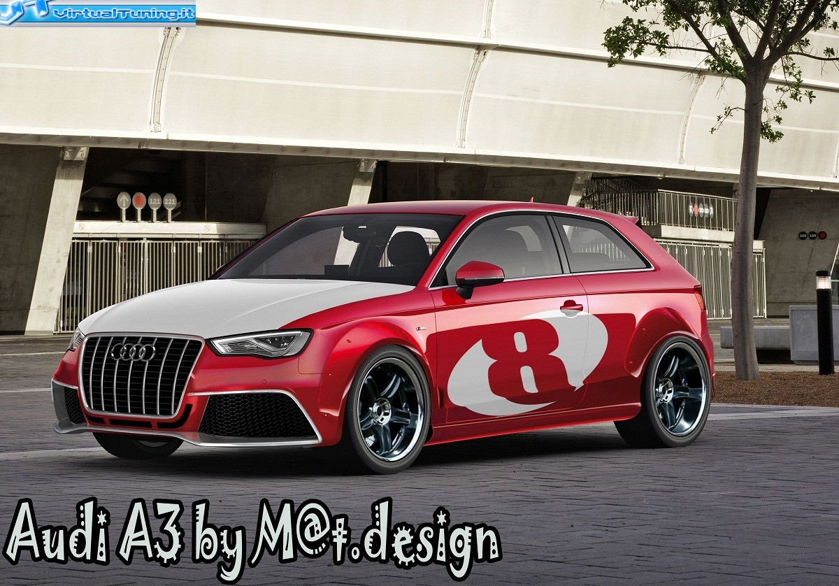 audi a3 clubsport by m virtualtuning it. Black Bedroom Furniture Sets. Home Design Ideas