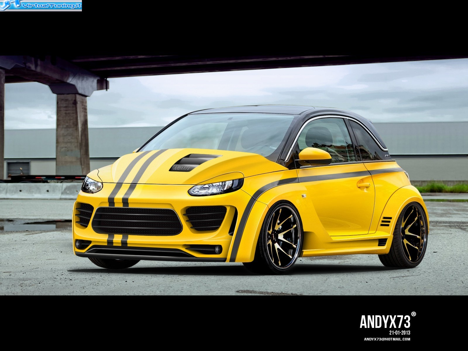 opel adam by andyx73 virtualtuning it. Black Bedroom Furniture Sets. Home Design Ideas