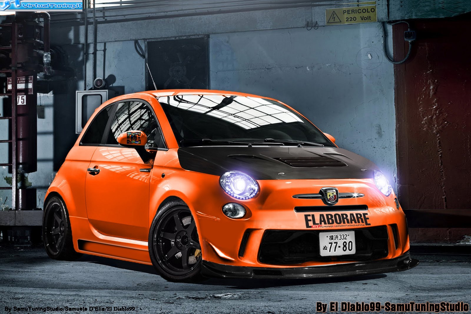 abarth 500 by el diablo99 virtualtuning it. Black Bedroom Furniture Sets. Home Design Ideas