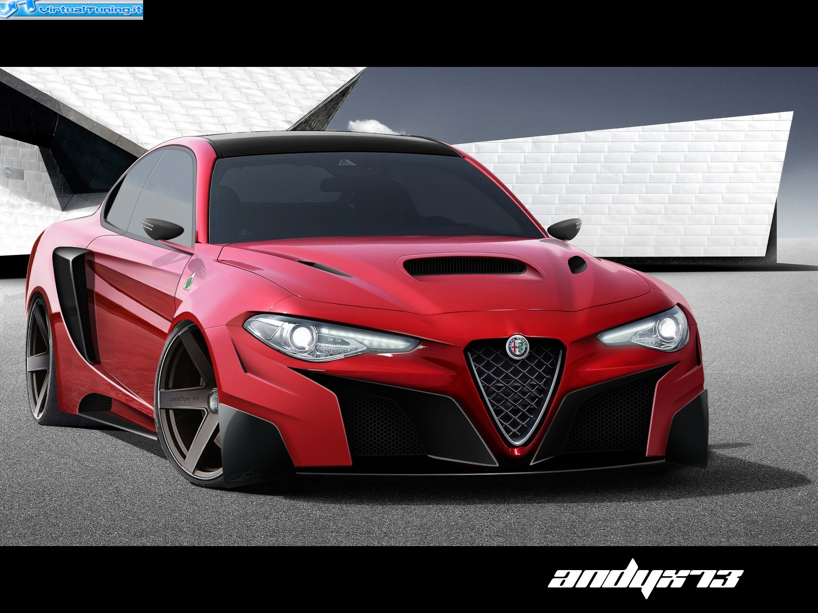 alfa romeo giulia by andyx73 virtualtuning it. Black Bedroom Furniture Sets. Home Design Ideas